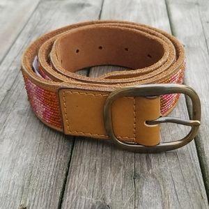 Lucky Brand beaded leather belt